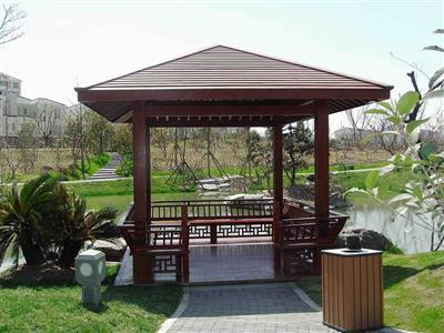 庭院设计施工,制作假山凉亭花架葡萄架木地图片
