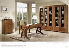 恒叶实木家具提供御品东方书房家具