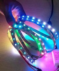 5V144燈144像素燈條WS2812B燈條RGB全彩燈條