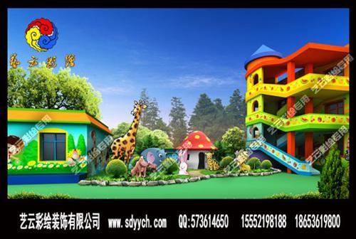 徐州艺海幼儿园室外墙体彩绘设计图片