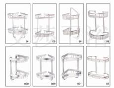 太空鋁轉三角架兩二層置物架籃浴室掛件廠家