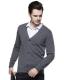 正宗纯山羊绒衫 男士平版开衫鸡心领 羊毛衫